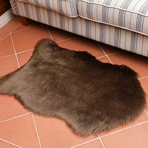 ITSOFT Premium Soft Faux Fur Area Rug for Bedroom Living Room Chair Couch Cover Bedside Plush product image