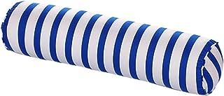 Nunubee Traversin doux avec housse en coton lavable Coussin pour les lombaires, Coton, Marine-Streifen, 20*80cm