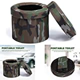 cheerfulus-1 Upgrade Portable Camping Toilet,Camouflage Folding Travel Potty Commode Toilet Seat,Car Toilet Potty