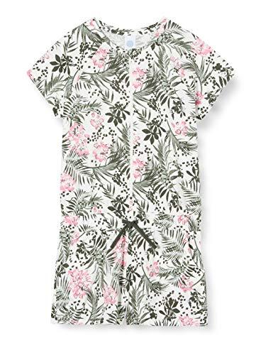 Sanetta Mädchen Overall kurz Einteiliger Schlafanzug, Grün (grün 4991), (Herstellergröße:176)