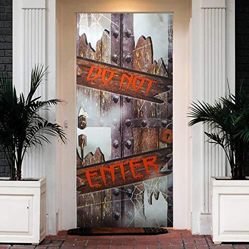 ZOOINB Murales Para Puertas 3D Para Puertas Papel Pintado Puertas Autoadhesivo,95X215Cm Arte De Puerta De Hierro Vintage Impermeable Mural Puertas Pegatinas 3D Para Puertas Pvc Decorativos Para Puerta