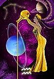 Lienzo Pinturas Arte De La Pared Hd Impresión De Oro Acuario Doce Constelaciones La Imagen Para La Decoración Moderna Del Hogar