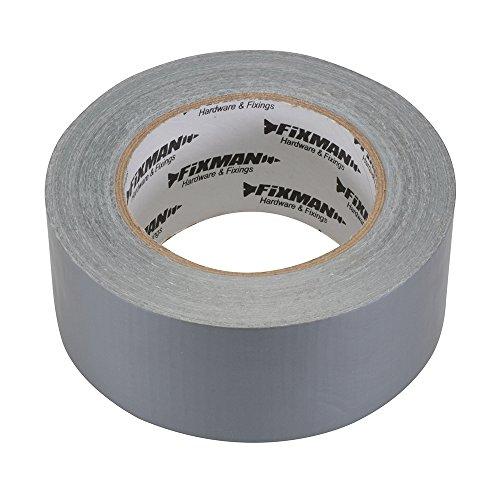 Fixman 188824 Super Heavy Duty Silver Duct Tape 50mm x 50m