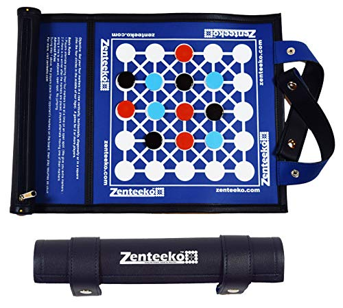 Zenteeko Roll Up Abstract Strategy Travel Board Game for 2 or More Players