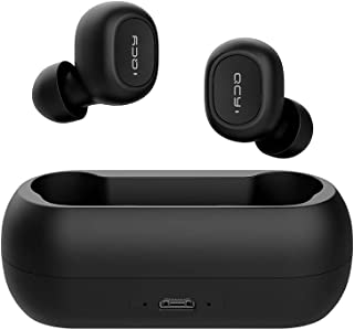 Xiaomi QCY T1C BT5.0 Youth Version Mini 3D Stereo Sound Wireless Earphones with Microphone and Charging Box (black)