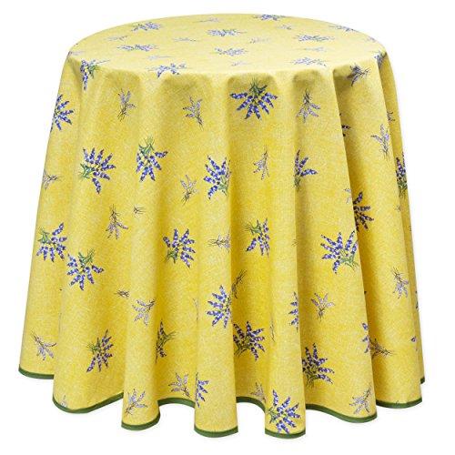 Provencetischdecke lavande jaune, 180 cm, facile d'entretien de provencestoffe