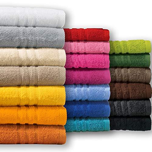 REDBEST Handtuch New York beige Größe 50x100 cm - leichte, weiche Qualität, saugstark, sehr strapazierfähig, 100% Baumwolle (weitere Farben, Größen)