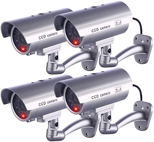 IDAODAN Dummy Security Camera, Fake Cameras CCTV Surveillance System with...