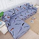 Fundas de sofá elásticas para Sala de Estar Funda de sofá elástica para sillón Funda para sofá Chaise Lounge A14 4 plazas