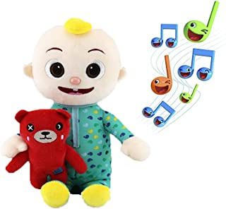 AioTio CoCo Melon & JJ Dolls Plush Musical Toy,Can Sing 9 English Songs,As a Gift for Baby and Girlfriend (Hug Bear Music)
