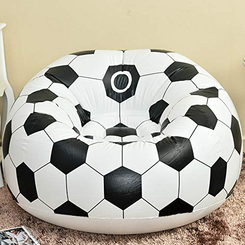 XGQ Mode Lässig Faul Stuhl Kreative Aufblasbare Sofa Einzigen Hocker (Basketball Sofa) (Color : Football Sofa)
