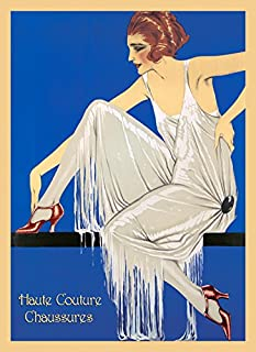 CANVAS Fashion Girl Lady Special Shoes Haute Couture Chaussures Chic France French Vintage Poster Repro 16