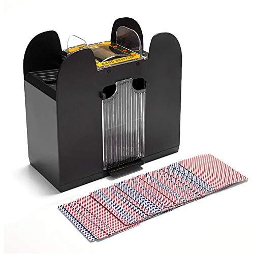 DSYYF Barajadora de Cartas automática Profesional, para póker de 6 Cubiertas Herramienta de barajadora de Cartas automática eléctrica para Ahorrar Mano de Obra para Entretenimiento en el hogar