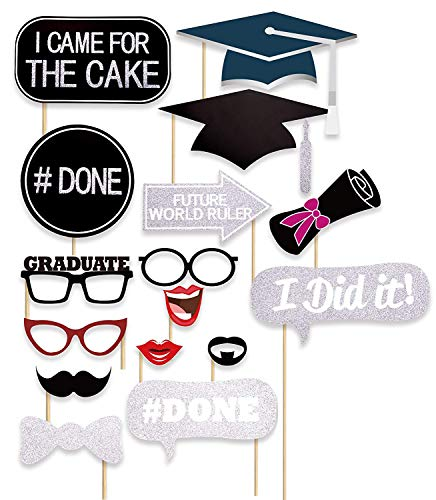 36 Ct Glitter Graduation Photo Booth Props