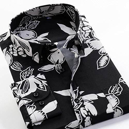 Camisa Camisa de manga larga estampada de primavera y otoño Camisa clásica de flores de moda para hombres 13 Elección de color se aplica al trabajo de negocios o al uso diario etc.-226095_5XL-45