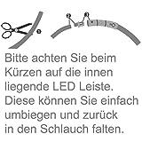 2-TECH LED Visio Leuchthalsband in BLAU für Hunde und Katzen universell kürzbar Deluxe 55 cm - 5