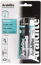 Araldite Rapid Kleefmiddel Kristal Lijm voor Keramisch Glas & Sieraden 2 X 15ml Buizen 2 X 15ml