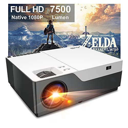 Beamer Full HD - Artlii Stone 1080P Native Beamer 4K Unterstützt 7500 Lumen mit 300