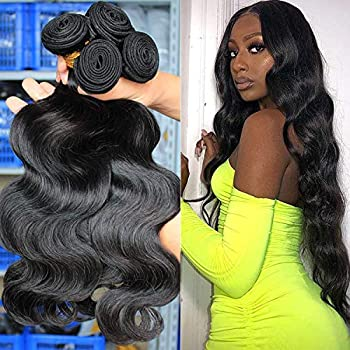 30 30 30 30 Inch 4 Bundles Brazilian Body Wave Hair Bundles Virgin Hair Bundle Deals Long Hair Extensions Unprocessed Remy Human Hair Weaves