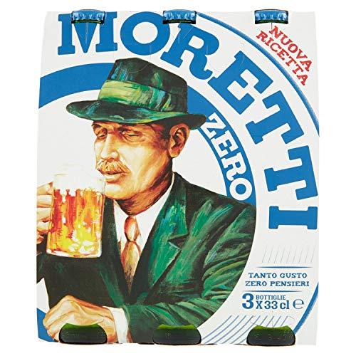 Moretti - Birra Zero Bottiglia Ml.330 (Pacco Da 3)