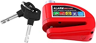 Waterproof Disc Brake Alarm Lock Scooter Motorcycle Bicycle Anti-theft Disc Brake Lock Security Alarming System(Red)
