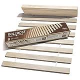 Riverbank Hochwertiger Birkenholz Rollrost - Rolllattenrost mit 14 Extra Starken Latten & Hoher Tragfähigkeit | Lattenrost 100x200cm aus Massiver Birke - Stabil & Robust | Bett Rost - 100 x 200