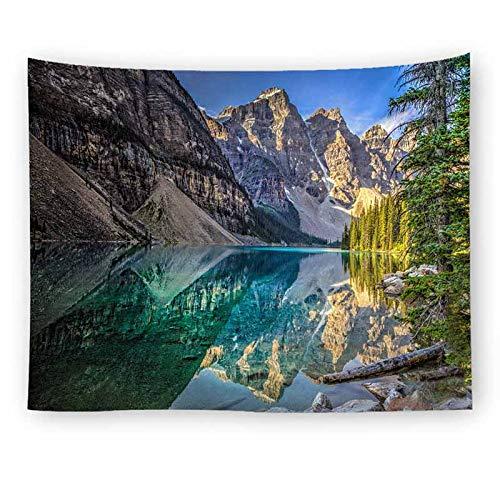 Paisaje natural paisaje gris bosque de niebla tapiz tapiz de pared tapiz de pared revestimiento de pared tapiz psicodélico A5 180x200cm