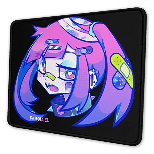 Mausepad Bandage Girl Rutschfester Schlafsaal Heimcomputer Mausmatte Anime Laptop Student Game 25X30Cm Mit Genähter Kante Mauspad Geschenk Mousepad Office School Desktop