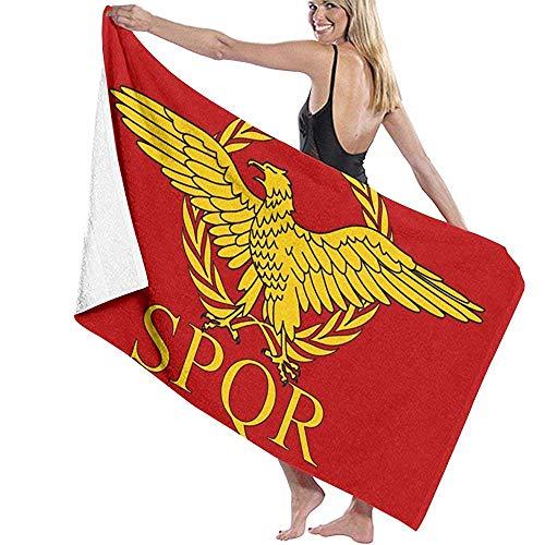 Beyond Loser Imperio Romano Senado SPQR Bandera Microfibra Piscina Toalla De Playa Manta Toalla De Baño De Secado Rápido Toallas De Surf,130X80 CM