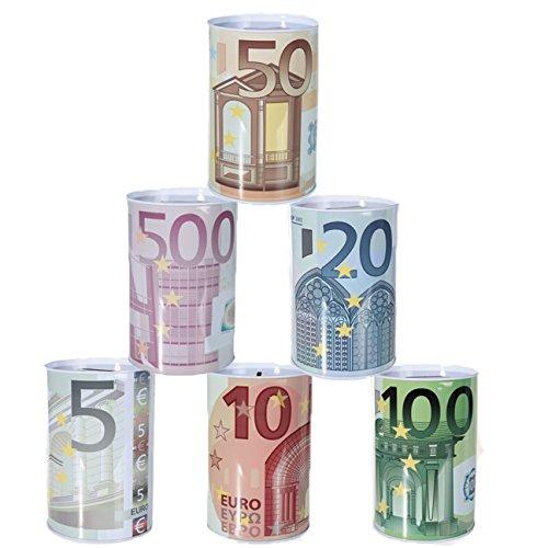 Bada Bing 6er Set Spardose Euro € Geldschein MITTEL Reisekasse Sparschwein 94