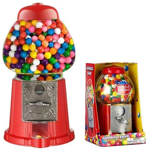 Dubble Bubble Gumball Sweets Dispenser Machine. Can be used as a savings bank.