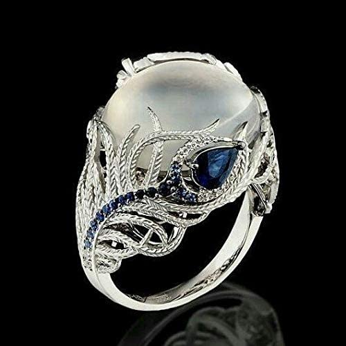 filigree and granulation detailed setting lots of blue fire Bold sterling silver moonstone ring size 6 made in India statement piece