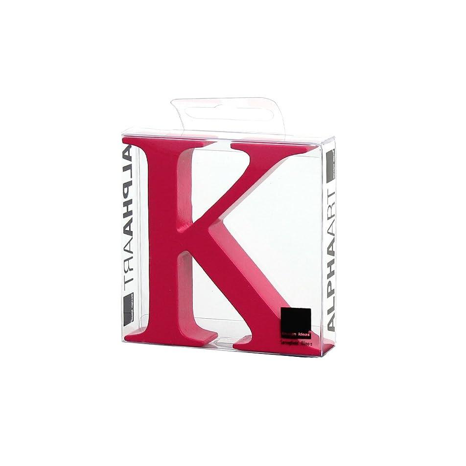 トーナメント不安定な味わうカメヤマキャンドルハウス アルファベットブロック カラフル  アルファアートラージK 「 ピンク 」
