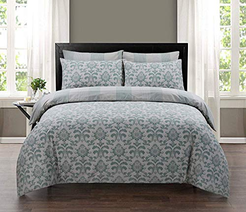 Carefree Dream Bedding Luxurious Printed Duvet Cover Sets Reverable 100% Egyptian Cotton (Istambul, Single)