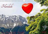 Herzlich Ein Kalender fuer Verliebte (Wandkalender 2022 DIN A4 quer): Zwoelf emotionale Motive zu einem emotinalen Thema (Monatskalender, 14 Seiten )