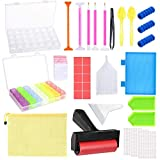 5D Diamond Painting Kits Tool,DIY Craft Diamond Painting Accessories Including Storage Box,Tray Kits and Fix Tool,Painting Roller and Light Drill Pens for Art Craft.