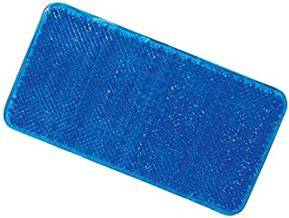 ALL FOR YOU Soft Anti-Slip Shower Tub Grass Massage Bath Mat (Blue)-BPA, Latex, Phthalate Free