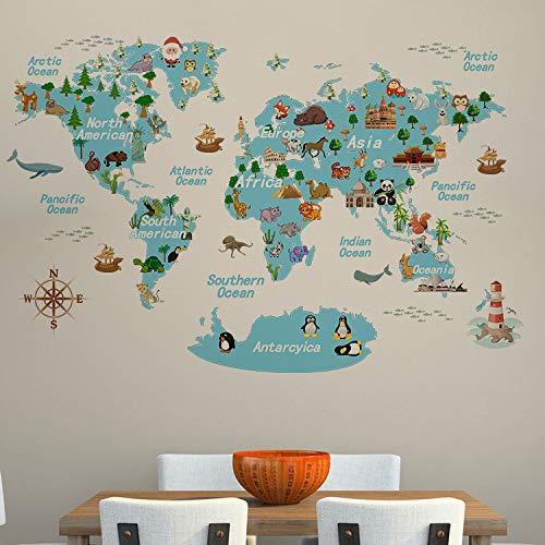 Kinderzimmer Arbeitszimmer Wohnzimmer Cartoon PVC abnehmbar abnehmbar ToonWorld dekorative Wandaufkleber 50X70cm