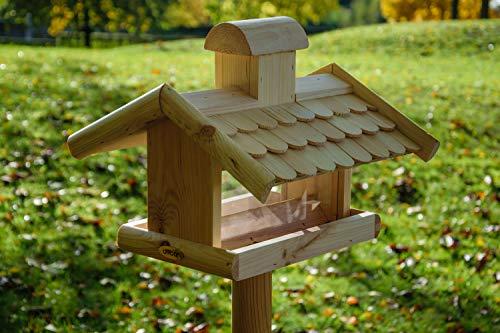 dobar 21277e Klassisches Vogelhaus groß aus Holz mit Futter-Silo, 38 x 38 x 30 cm - 9