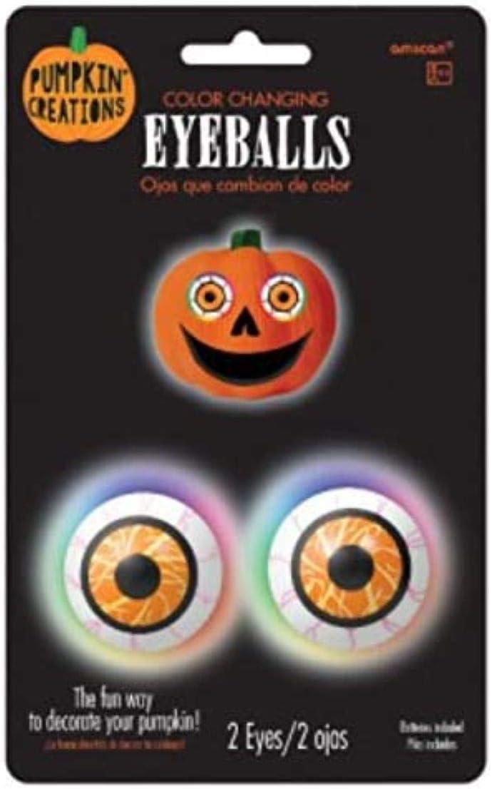 Color Changing Pumpkin Eyeballs Light