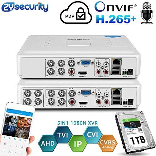 H.264 Onvif 4Channel 8Ch CCTV Hybrid DVR 1080N 5IN1 Recorder for AHD Camera TVI CVI Analog Camera Mini NVR For IP Camera PTZ 4HC NOne