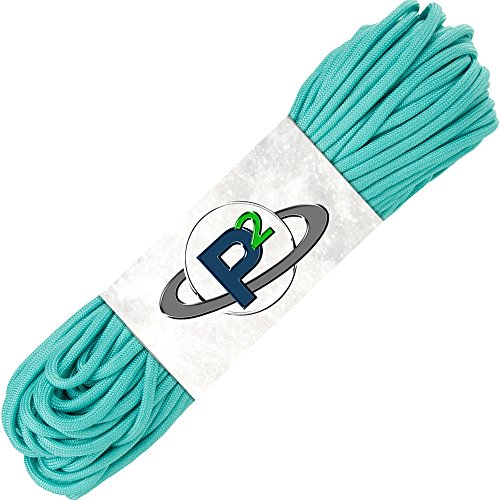 PARACORD PLANET Mil-Spec Commercial Grade 550lb Type III Nylon Paracord (Turquoise, 25 feet)