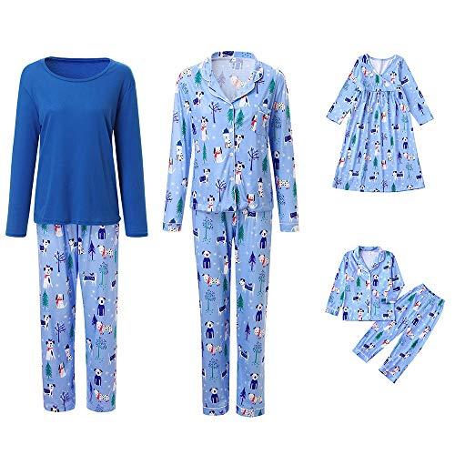 Vrouw sneeuwman-print kerstmis nachtkleding familie set O neck lange mouwen patchwork ouders kind pyjama's set ouders/pap/moeder/kind