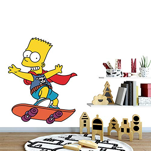 Bart Simpson Stickers The Simpsons Character Style Homer Bart Lisa Marge Maggie Wall Decal Sticker Animated TV Series Decal
