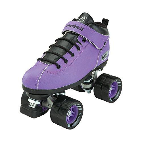 Riedell Skates - Dart - Quad Roller Speed Skates, Purple, 1