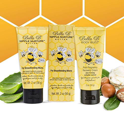 Price comparison product image BELLA B Bundle Nipple Nurture Butter 2 oz & Body Buzz Firming Cream 2 oz - Organic Nipple Cream for Breastfeeding - Nipple Butter - Stretch Mark Cream for Pregnancy Belly Cream