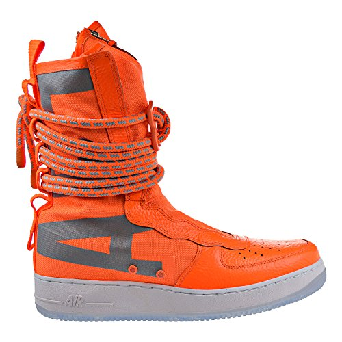 Nike SF Air Force 1 High Top Mens Boots Total Orange/White aa1128-800 (8.5 D(M) US)