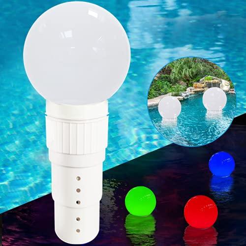 Floating Pool Chlorine Dispenser, Chlorine Floater with Solar Colour...