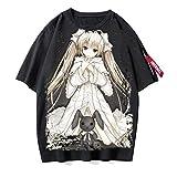 ZOSUO Hombre Mujer T-Shirt Manga Corta Yosuga No Sora Impresión Camisetas Verano Disfraz de Cosplay Kasugano Sora Camiseta Ocio Blusas Sueltas,I,S