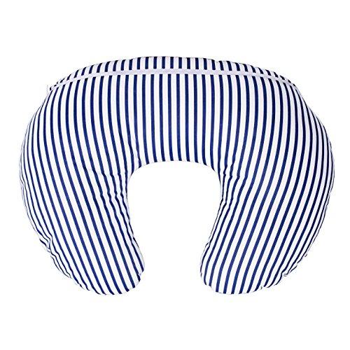 LULANDO Stillkissen, Nackenkissen und Lagerungskissen (55x42cm) für Babys und Erwachsene. Ideal auch für Kinder und als Reise-Kopfkissen. Farbe: Streifen Dunkelblau/Weiß